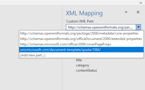 Changing the Custom XML Part